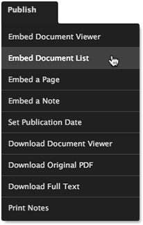 Embed Search Menu